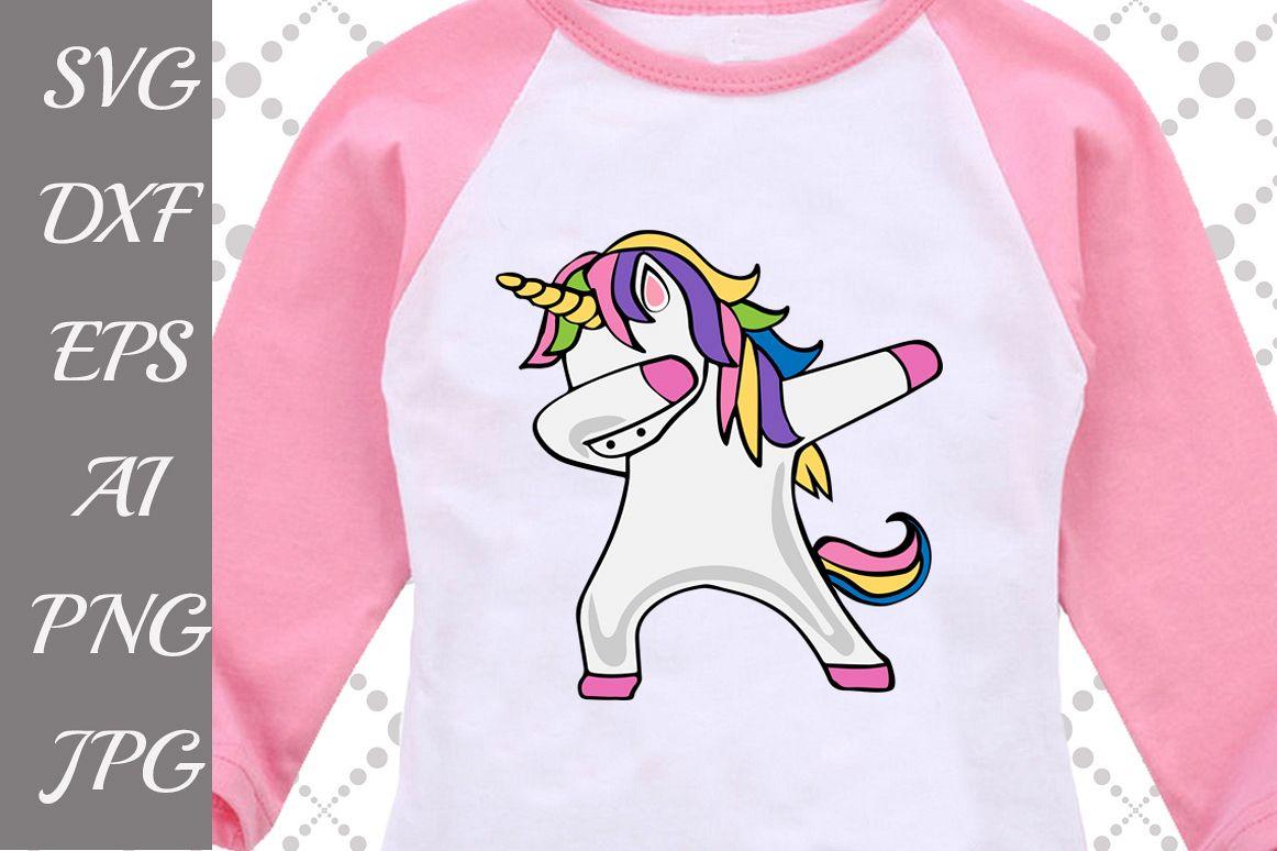 Dabbing Unicorn Svg example image