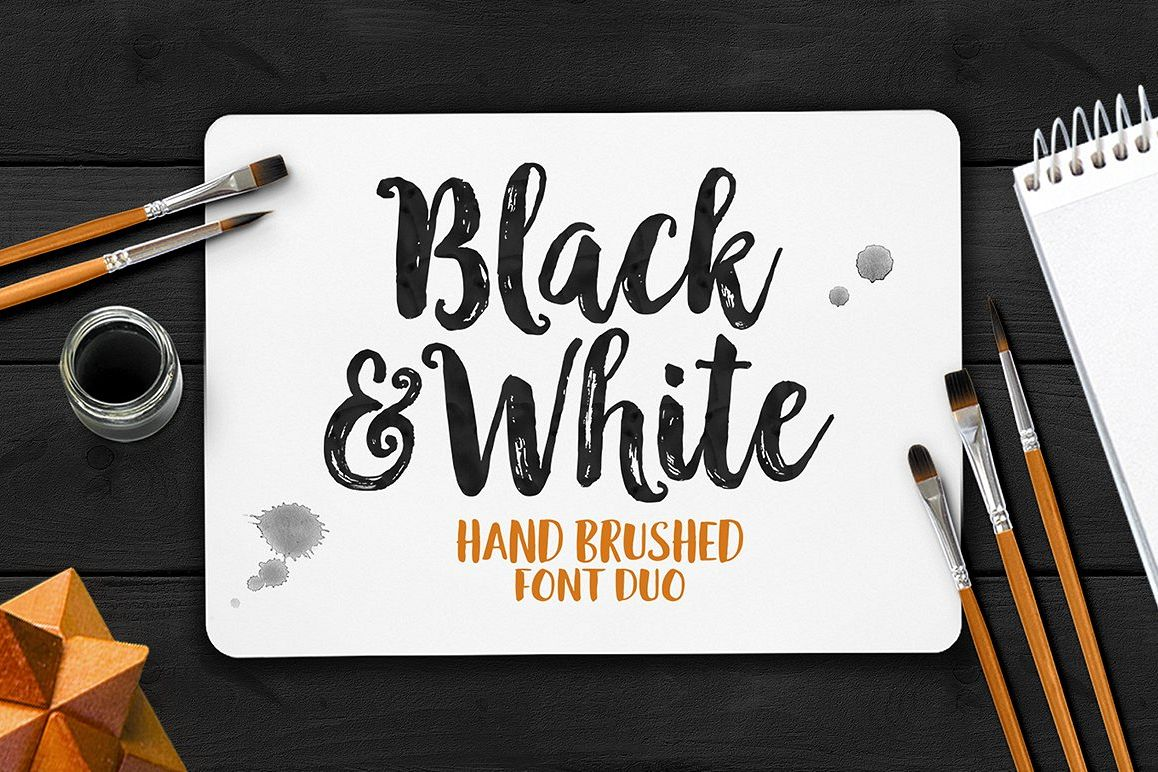 Black & White Font Duo example image