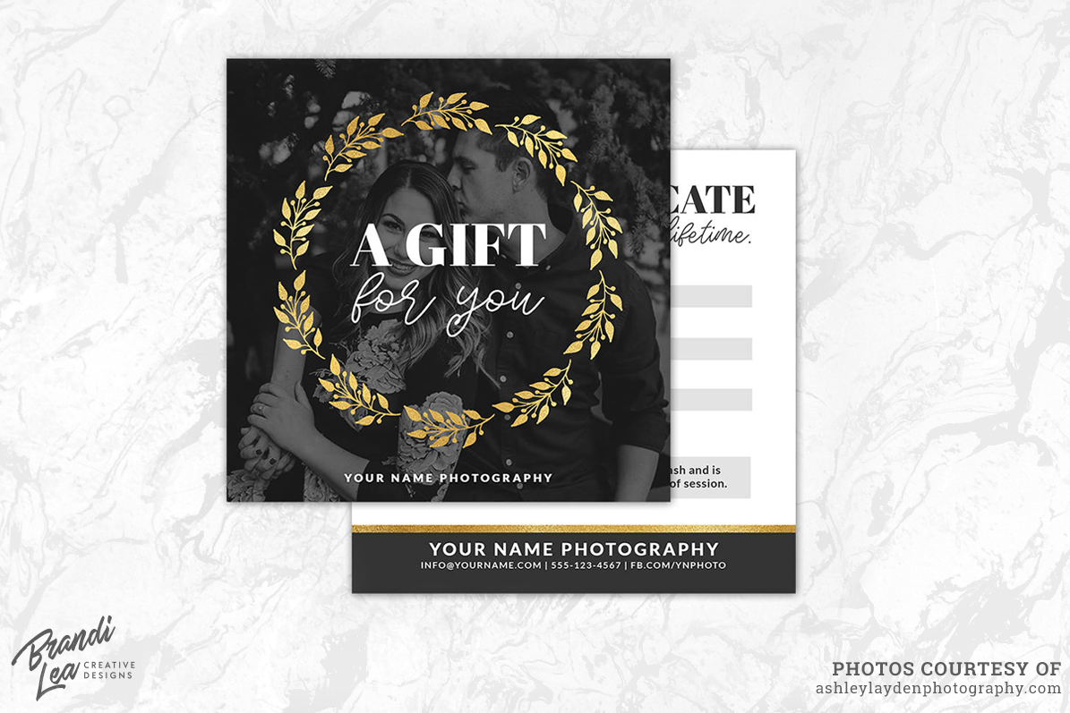 Photography gift certificate template b design bundles photography gift certificate template example image yelopaper Choice Image
