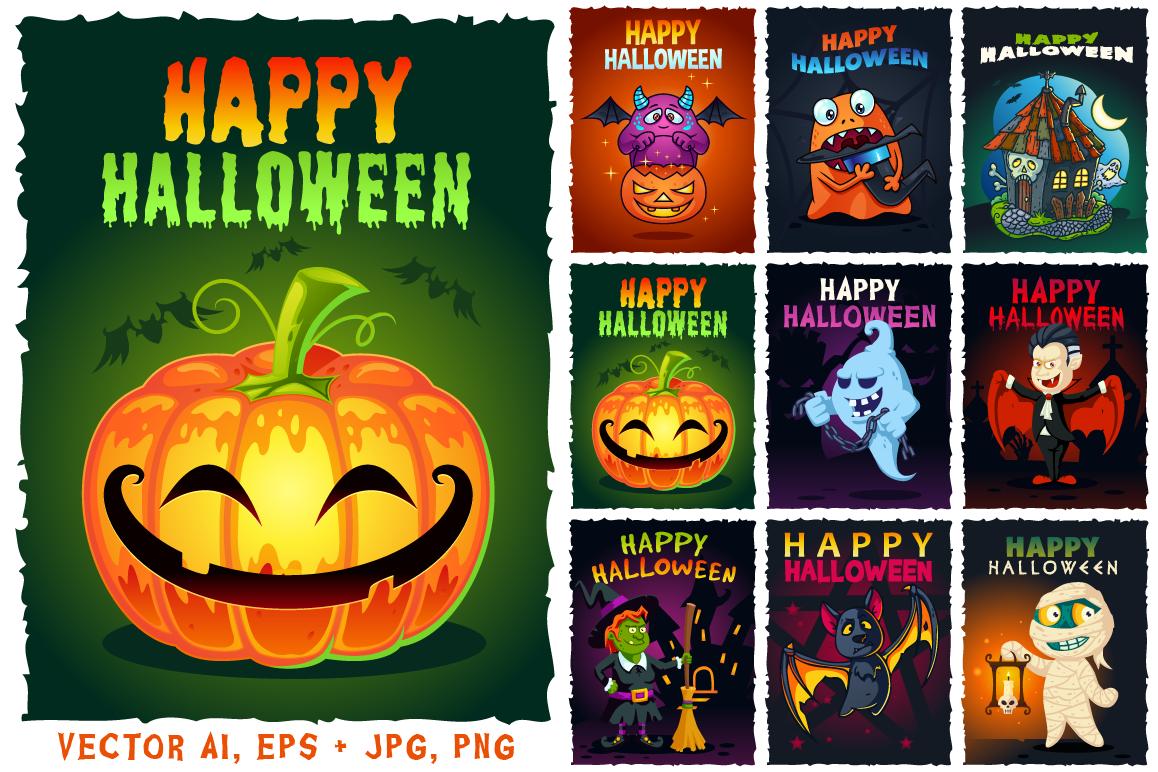 Happy Halloween Illustrations Set example image