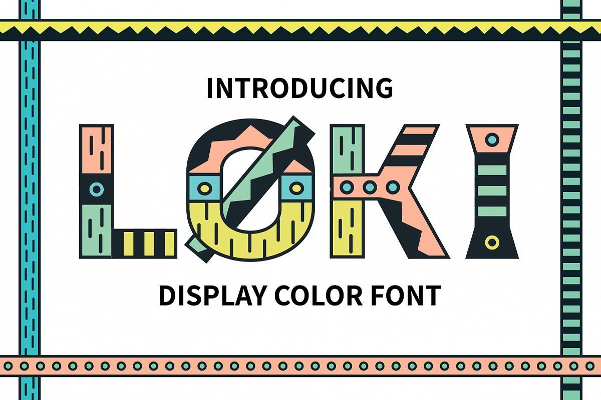 Loki Display Color Font example image