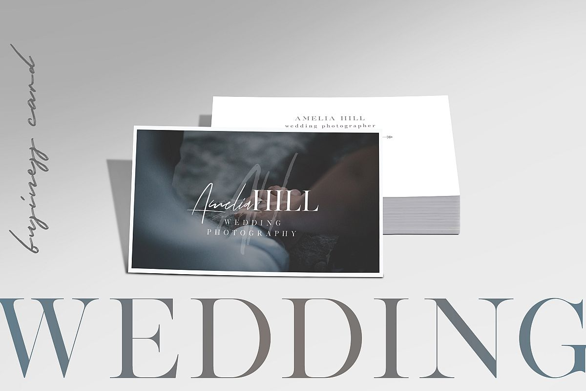Wedding Photography Business Card by Aw | Design Bundles