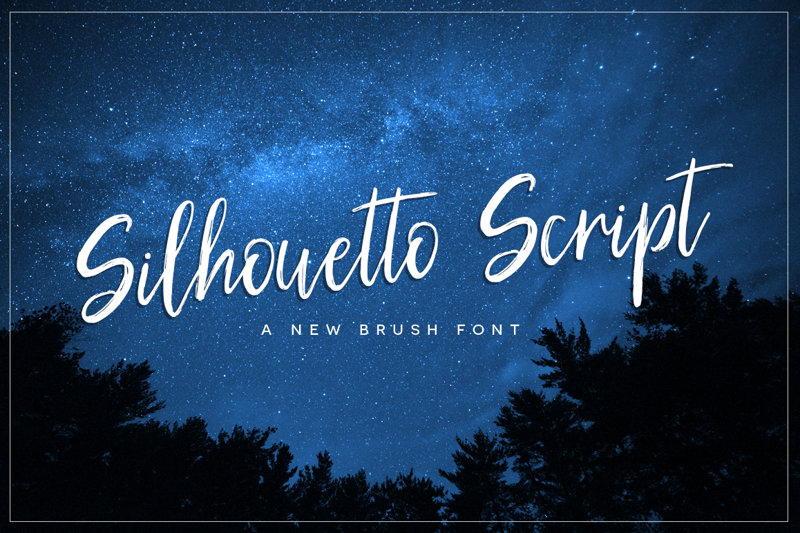 Silhouetto Script Font example image