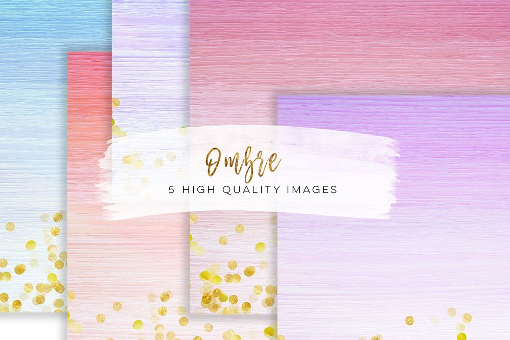 watercolour ombre paper, Printable, Pastel and Gold, Watercolor Wood paper, Ombre Watercolor Digital Paper, 12x12, instant download  example image