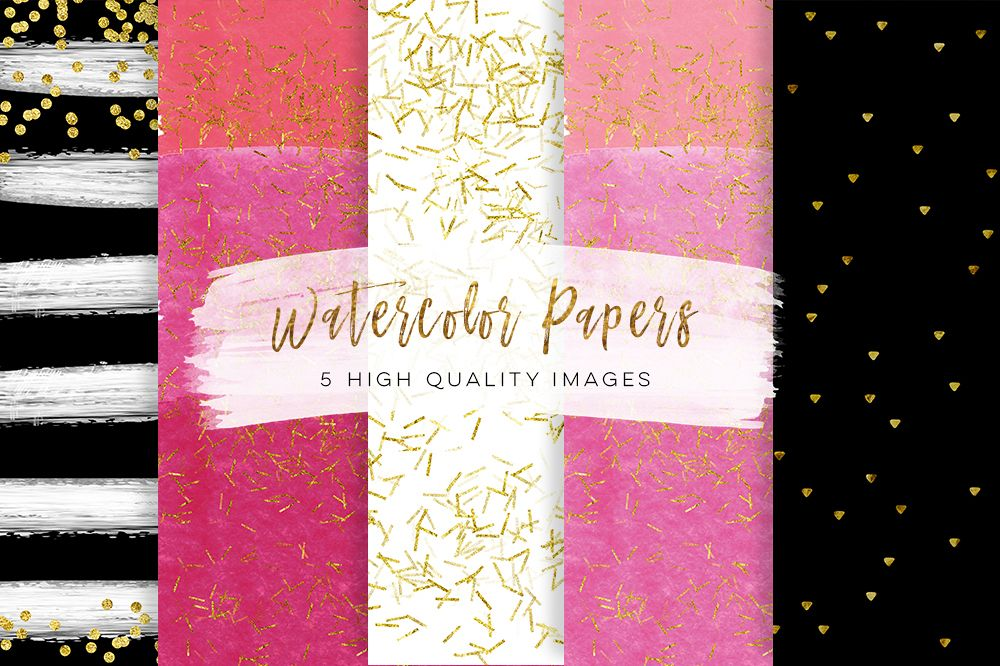 Black And Pink Gold Paper Scrapbook Pa Design Bundles