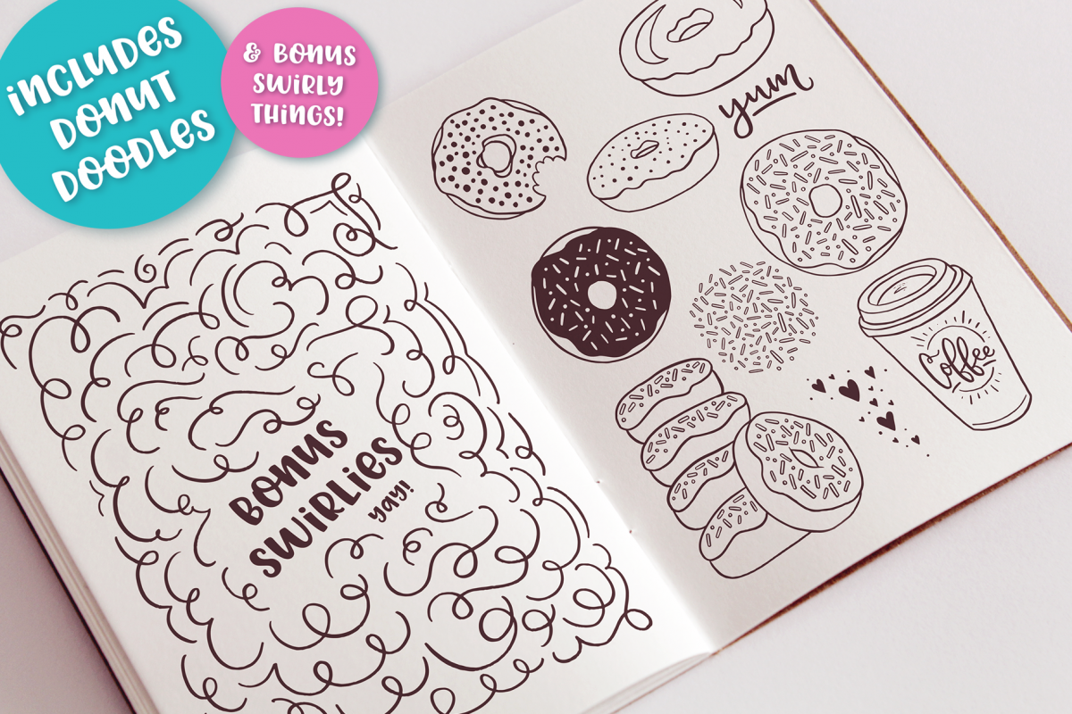 Donut Derby, a tasty caps font example image 5