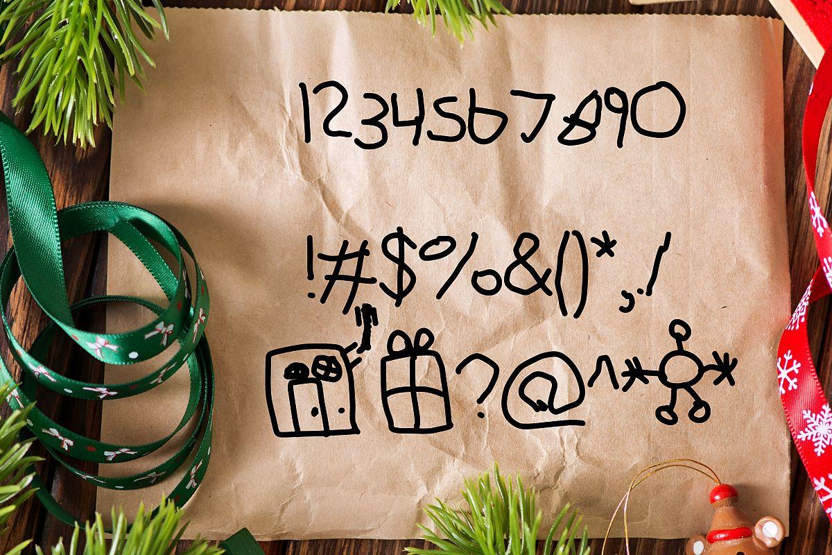Dear Santa a Kid Made Font example image 3