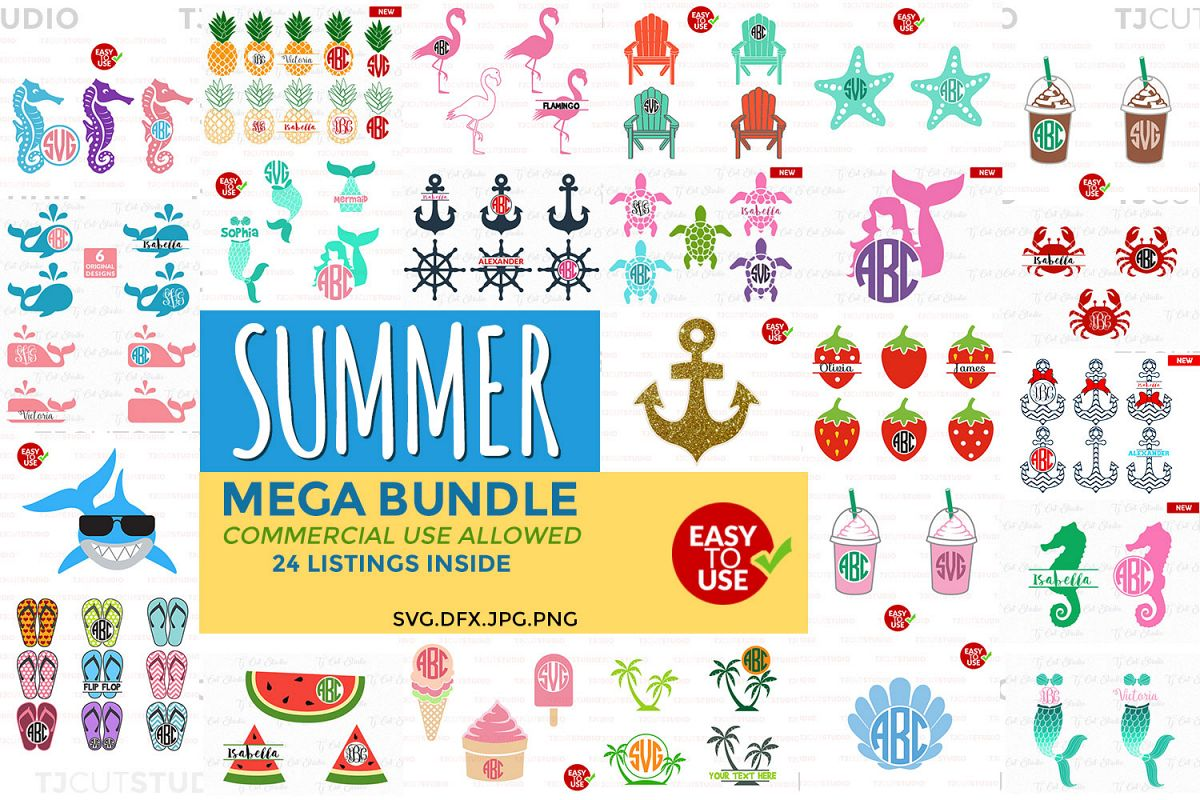 Summer Bundle svg, svg bundle, Summer svg, Files for Silhouette Cameo or Cricut, Commercial & Personal Use. example image