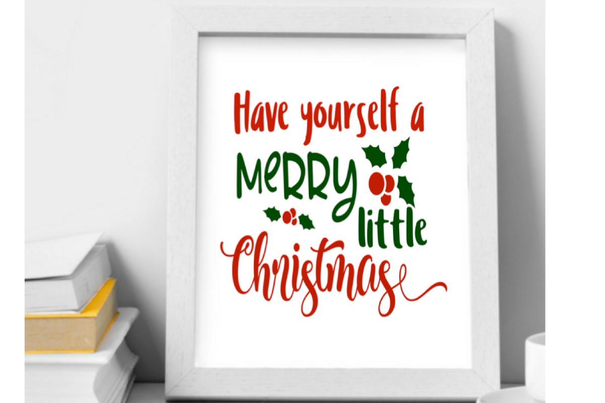 Have yourself a merry little christmas design bundles have yourself a merry little christmas wall art printable example image solutioingenieria Choice Image