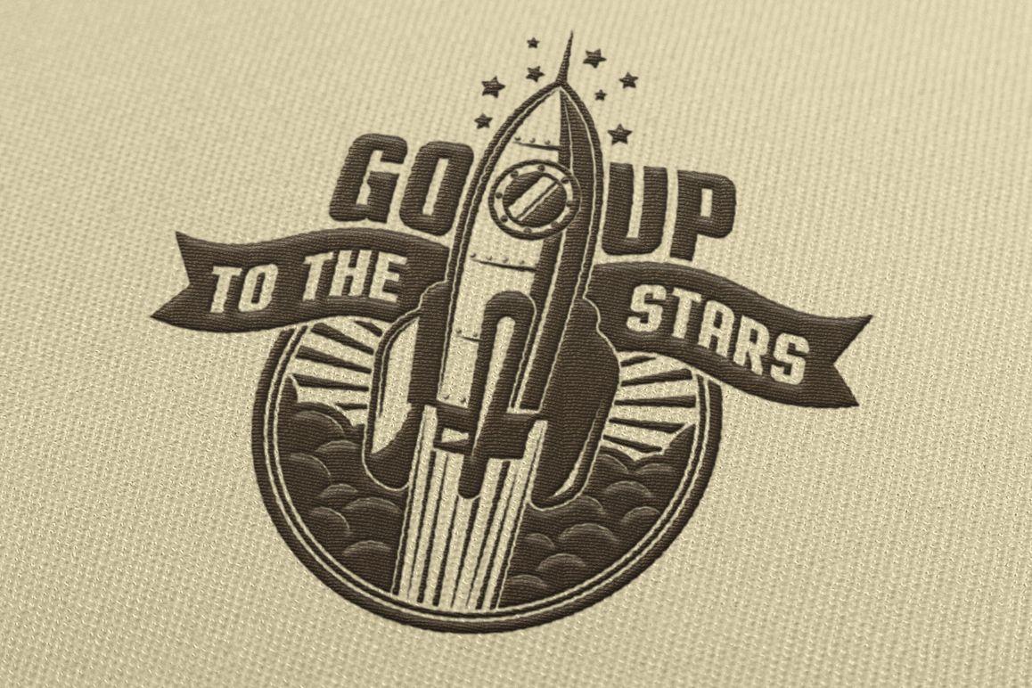 Startup Rocket Retro Logo example image 2