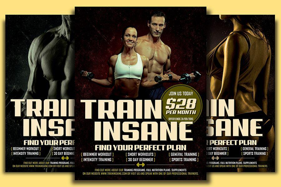 Fitness Training Flyer Template By Desi Design Bundles