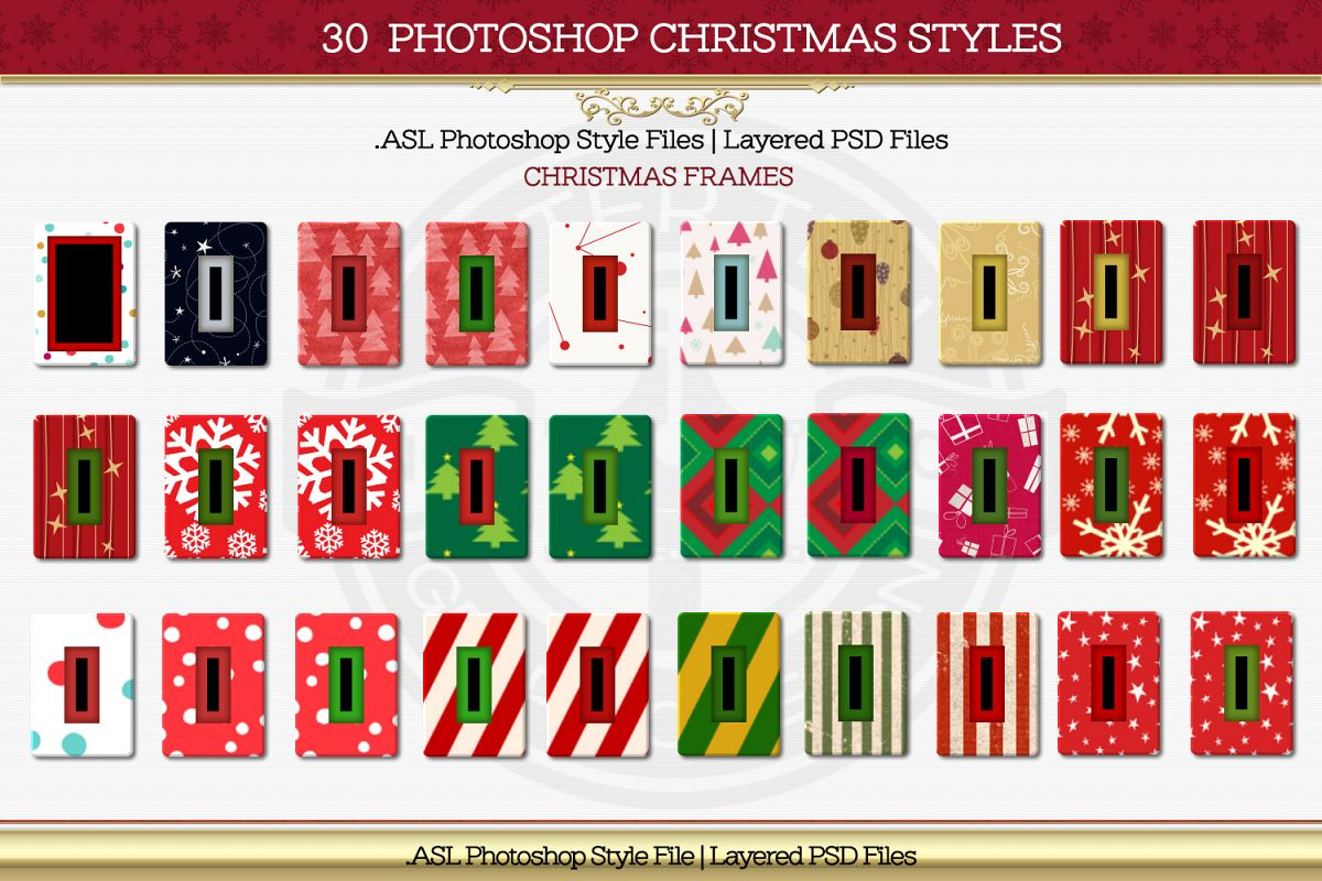 30 Christmas Frame Styles example image 2