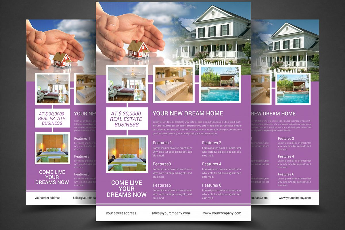 real estate flyer template example image