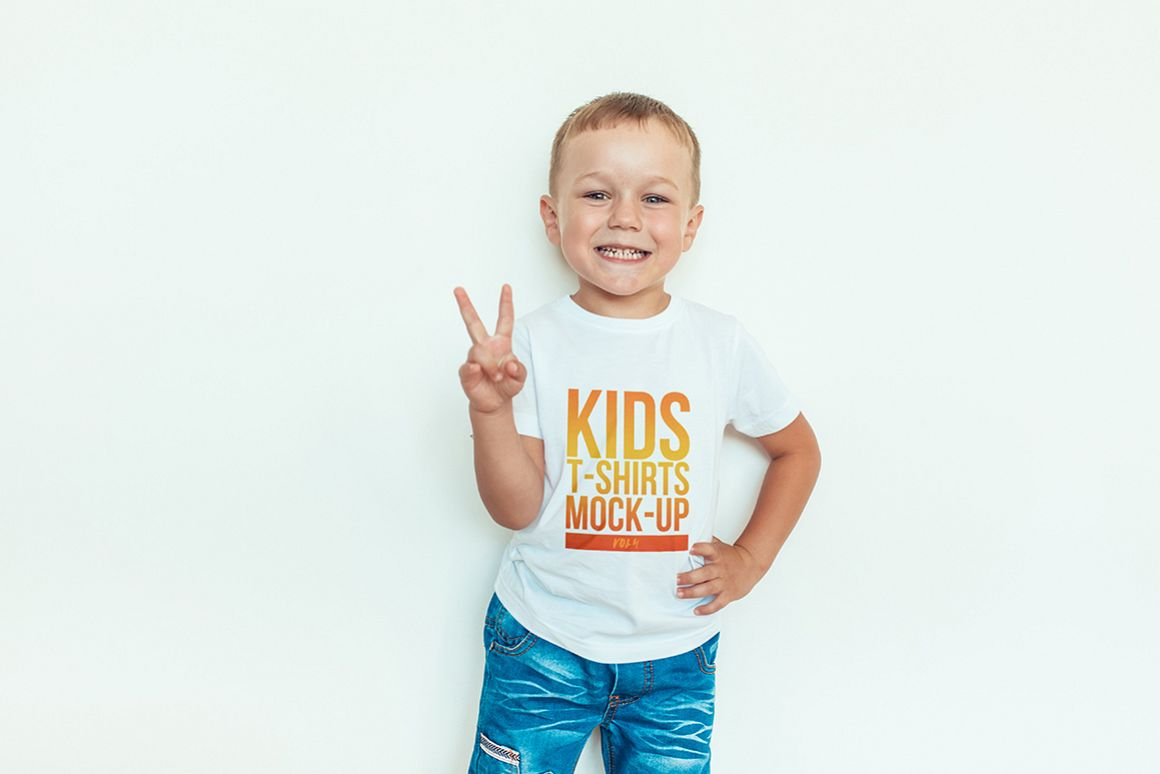 Kids T-Shirt Mock-Up Vol. 4 example image 7