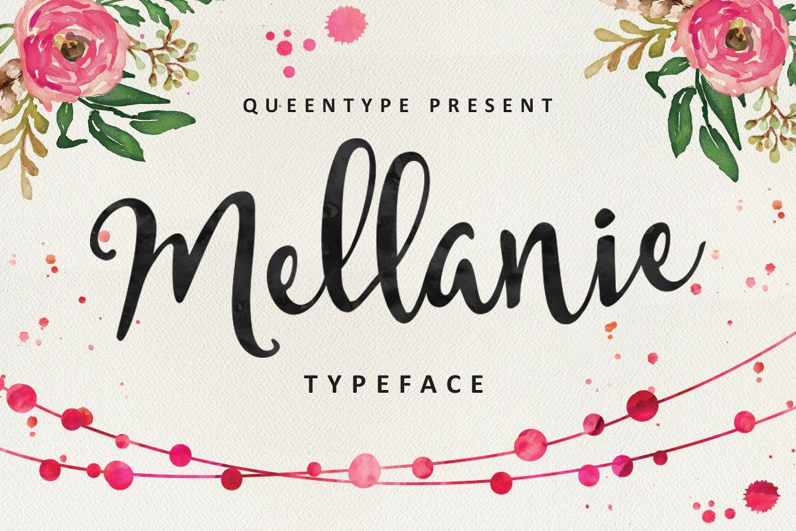 Mellanie Script example image