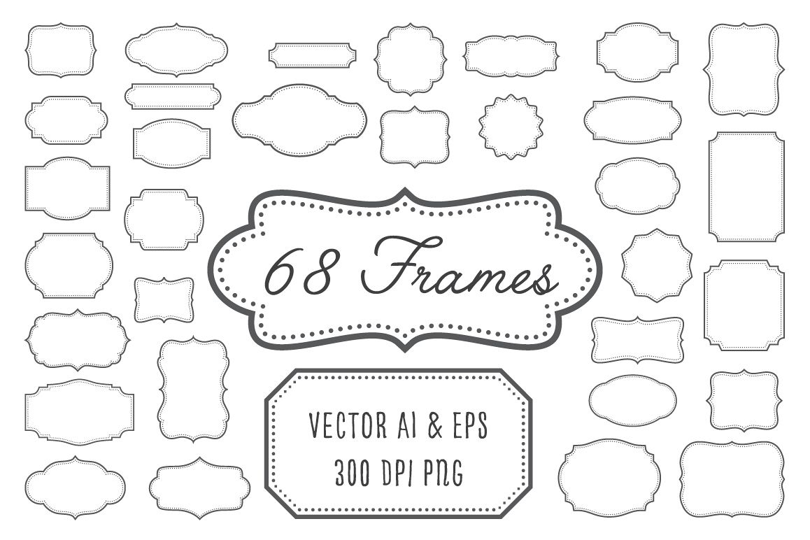 vintage frame design png. Vintage Frames, Labels, Badges Example Image Frame Design Png