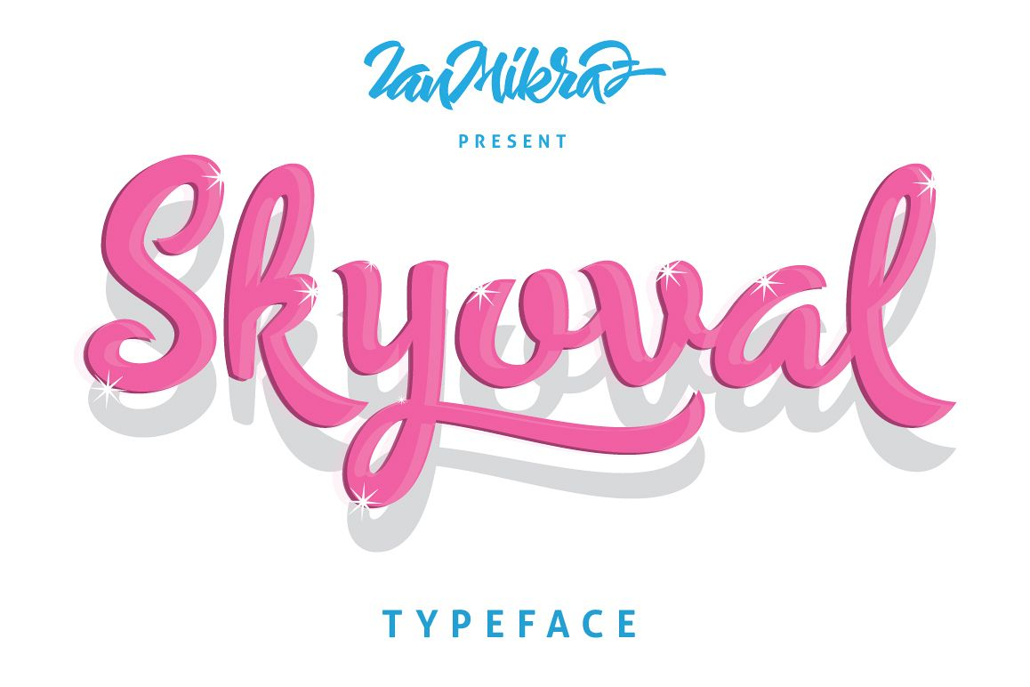 Skyoval Typeface example image