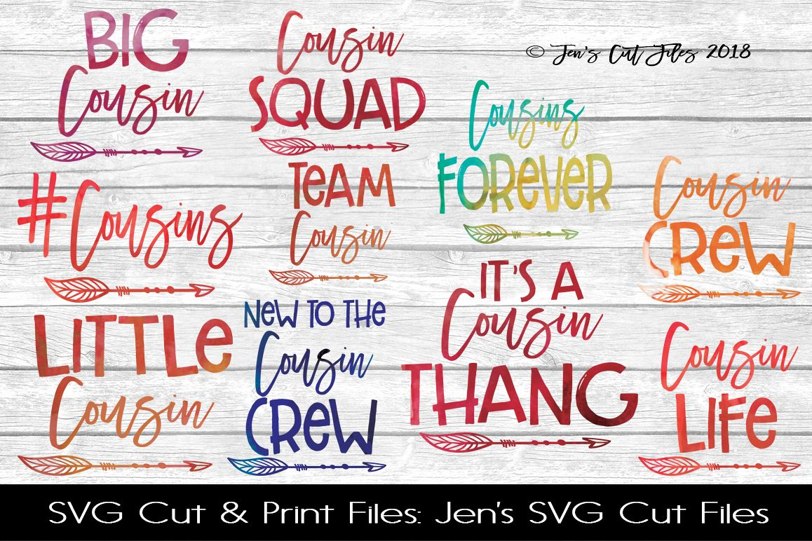 Cousins SVG Cut File BUNDLE example image