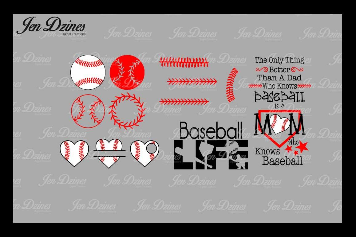 Baseball Bundle SCG DXF EPS PNG example image
