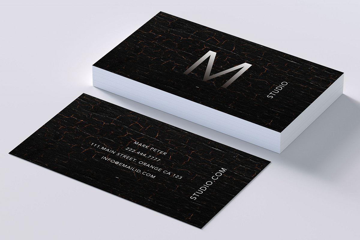 Classy texture business card by Creativ | Design Bundles