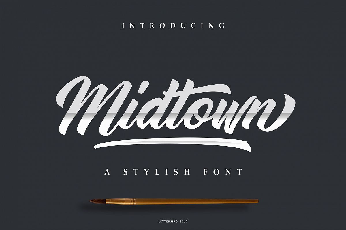 Midtown stylish font by lettersiro co font bundles midtown stylish font example image buycottarizona Gallery