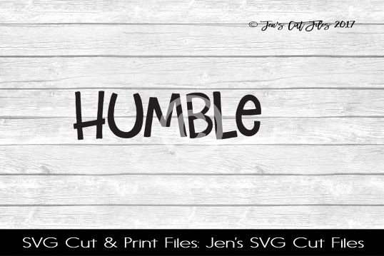 Humble SVG Cut File example image