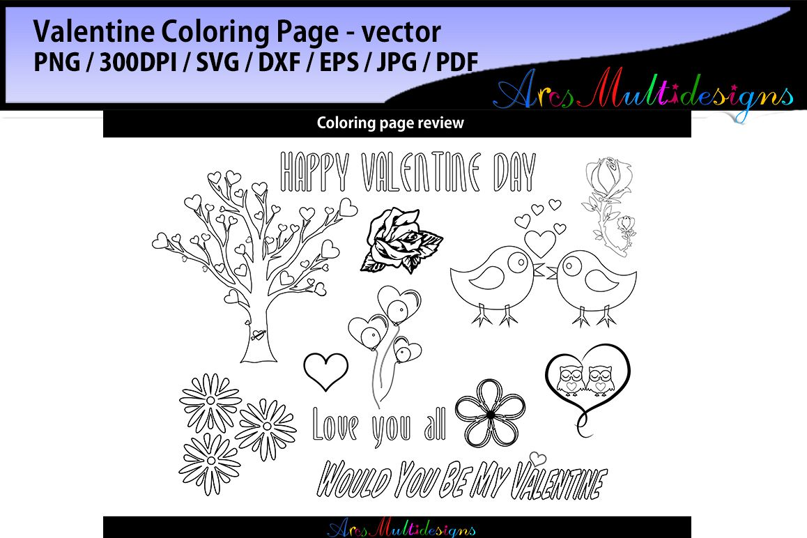 Valentine Coloring Pages Svg Vector Monster Cutes Example Image