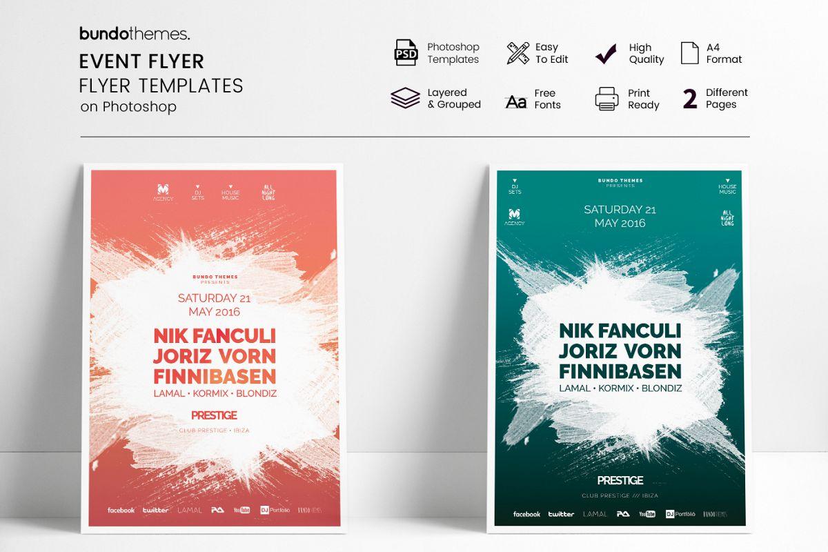 Event Flyer Template by Bundo Themes | Design Bundles