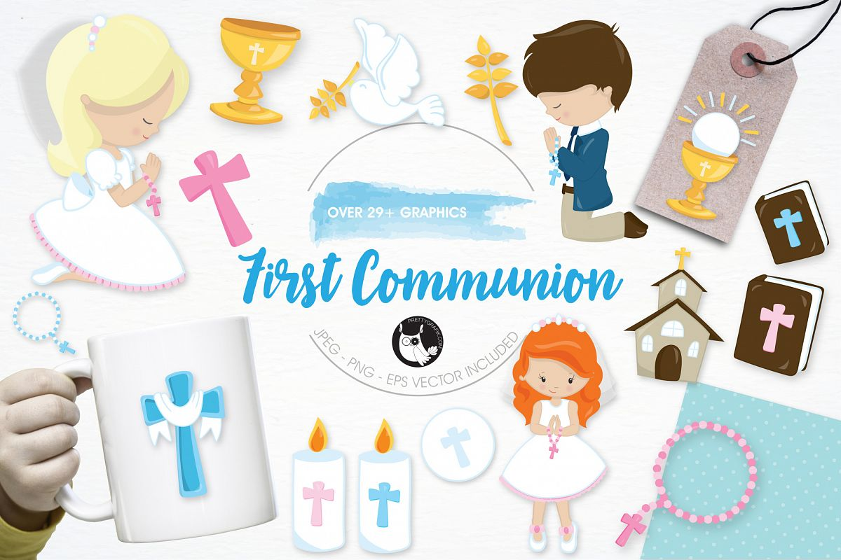 First Communion  graphics and illustrations example image