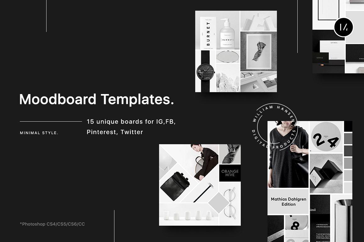 Mood board templates by Uidea | Design Bundles