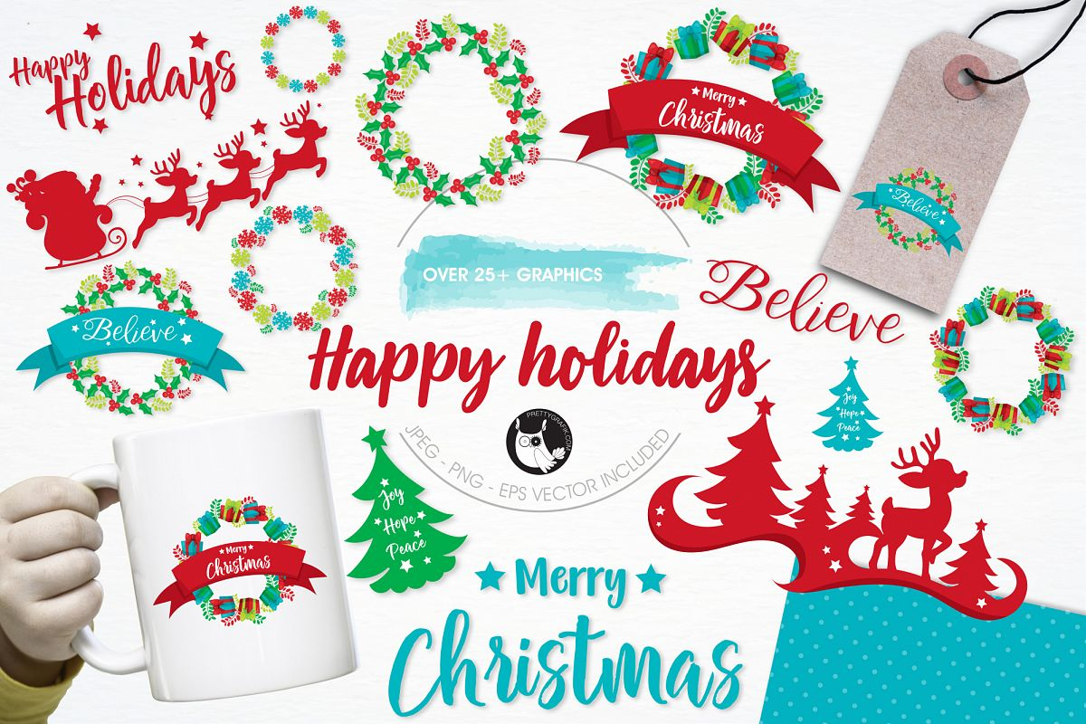 Happy Holidays  graphics and illustrations example image
