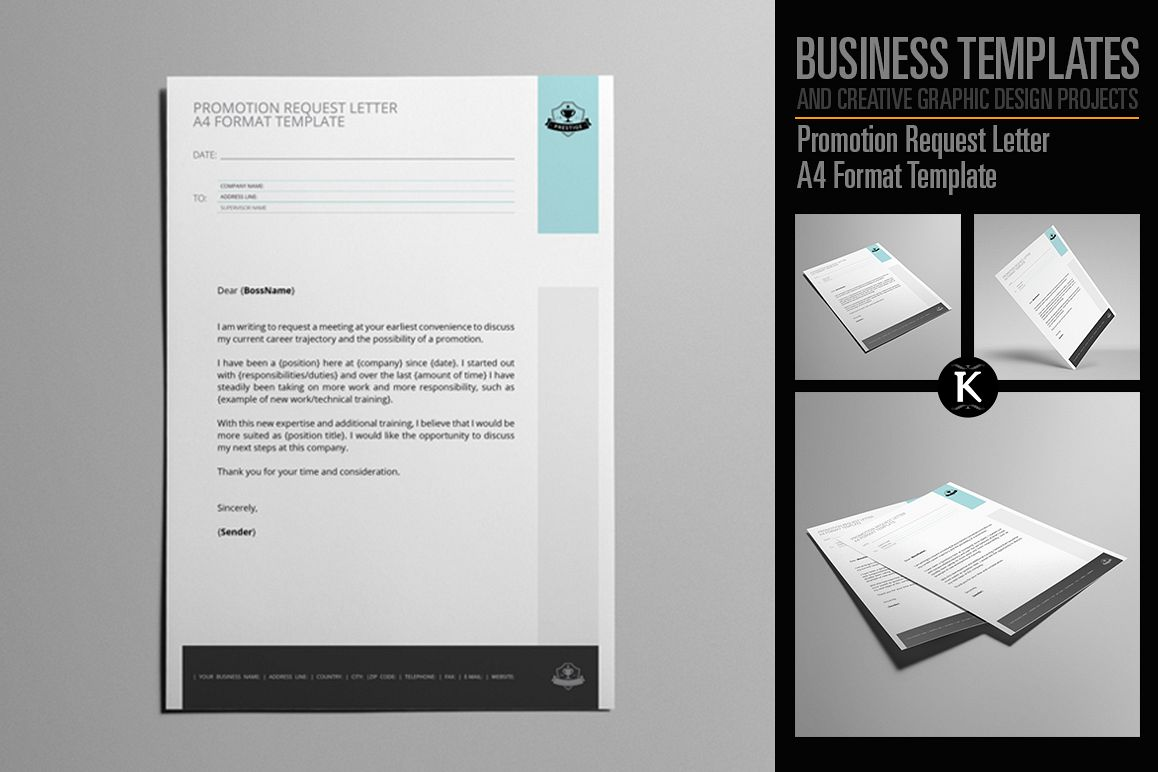 promotion request letter templates
