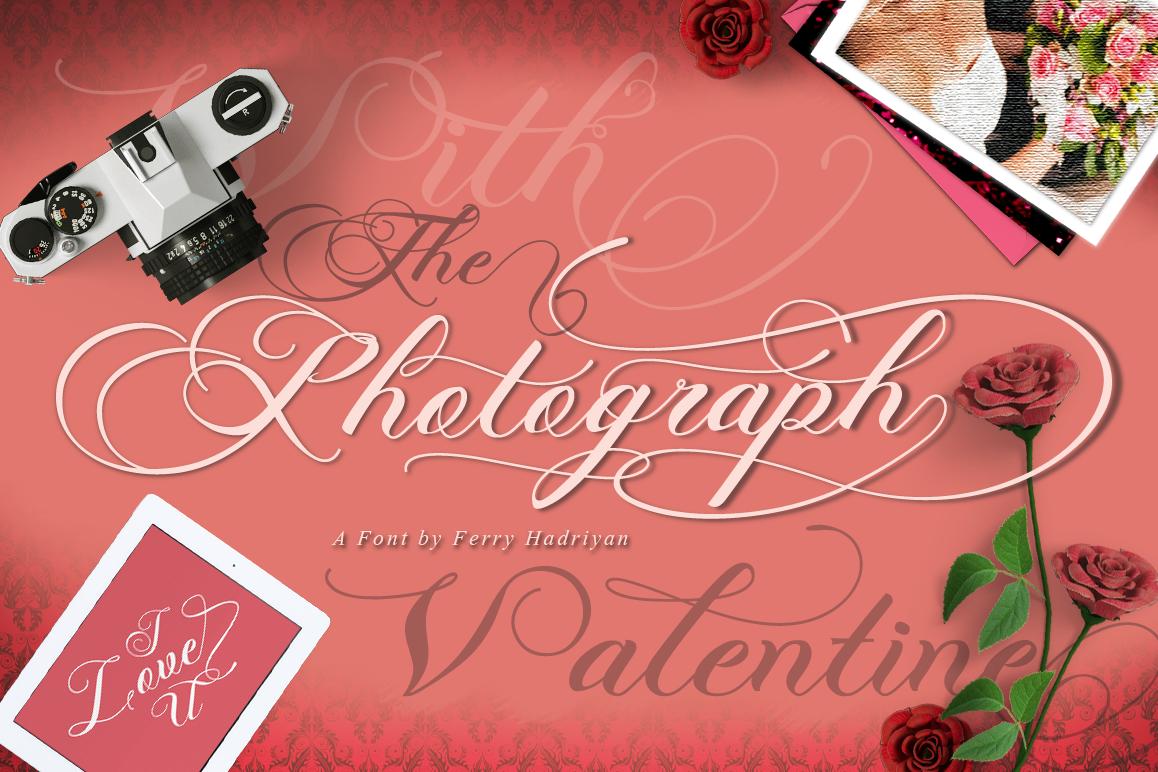 Photograph - Script Wedding Font example image