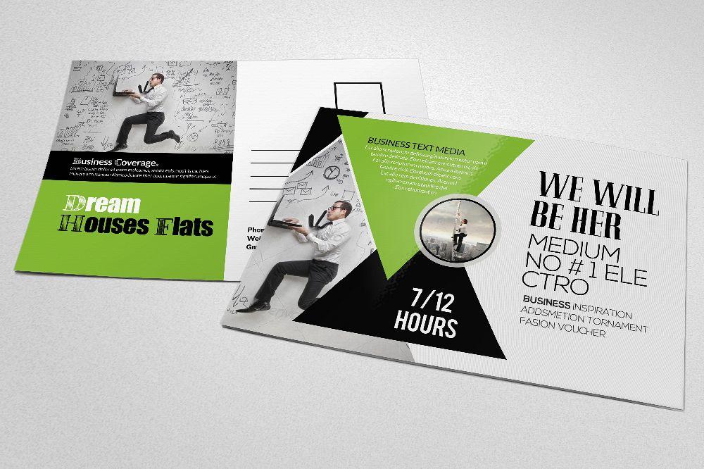 Business Consultants Postcard by Design | Design Bundles