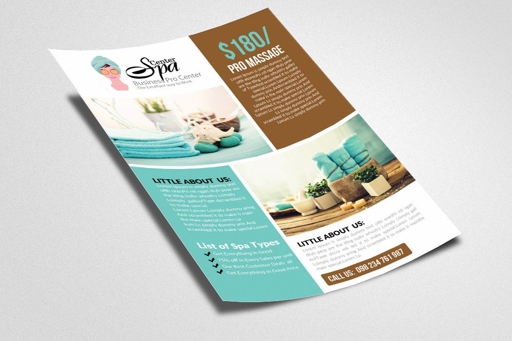 Beauty Salon Spa Flyer Templates By D Design Bundles - Spa brochure templates