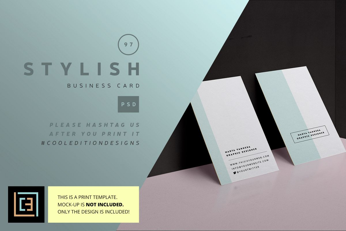Stylish Business Card - BC097 by Cooled | Design Bundles