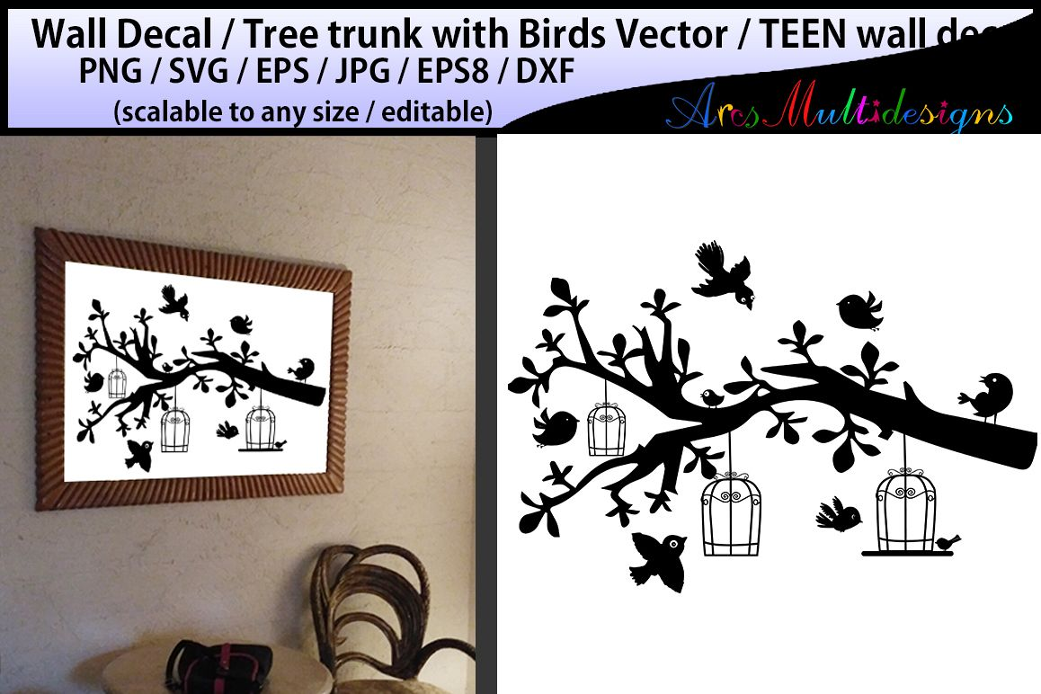 teen girl bedroom wall decal / wall dec | Design Bundles for Wall Sticker Tree Silhouette  56mzq