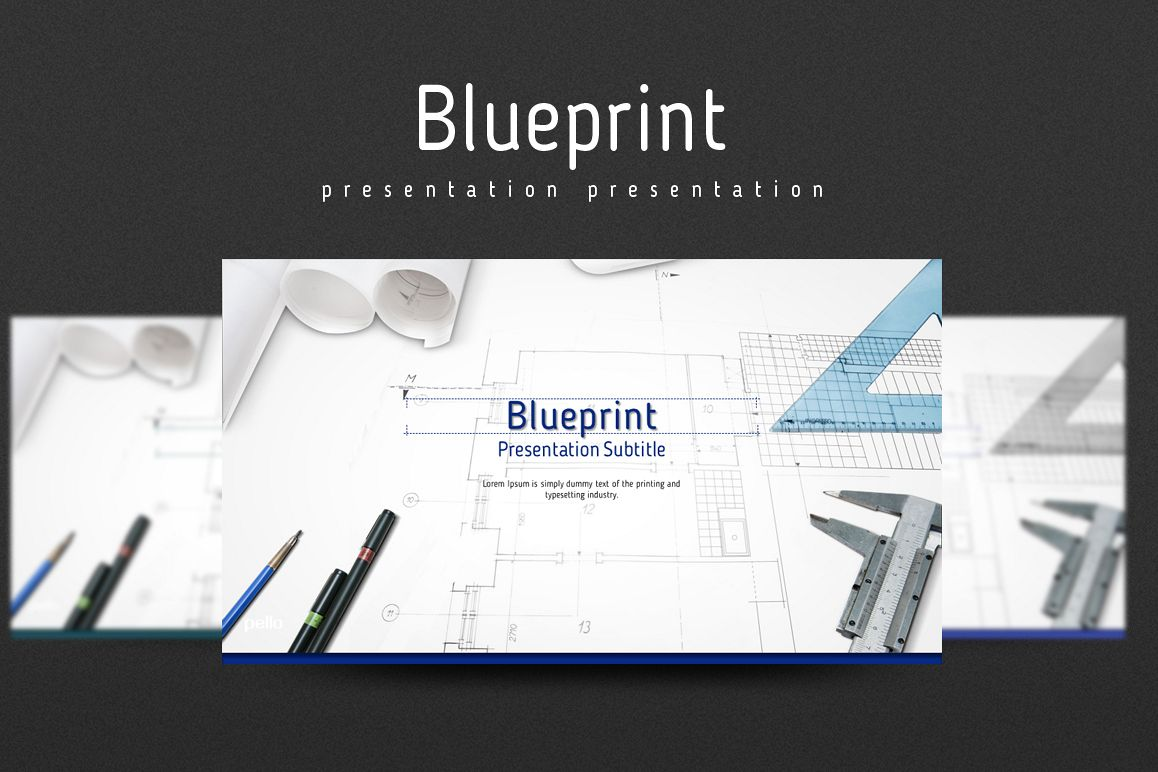 Blueprint PowerPoint Template Example Image