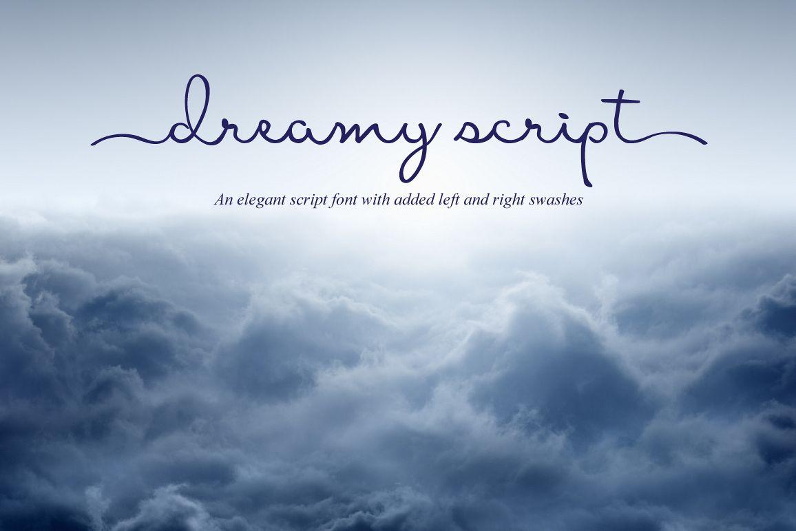 dreamy script swash fontjoanne marie | font bundles