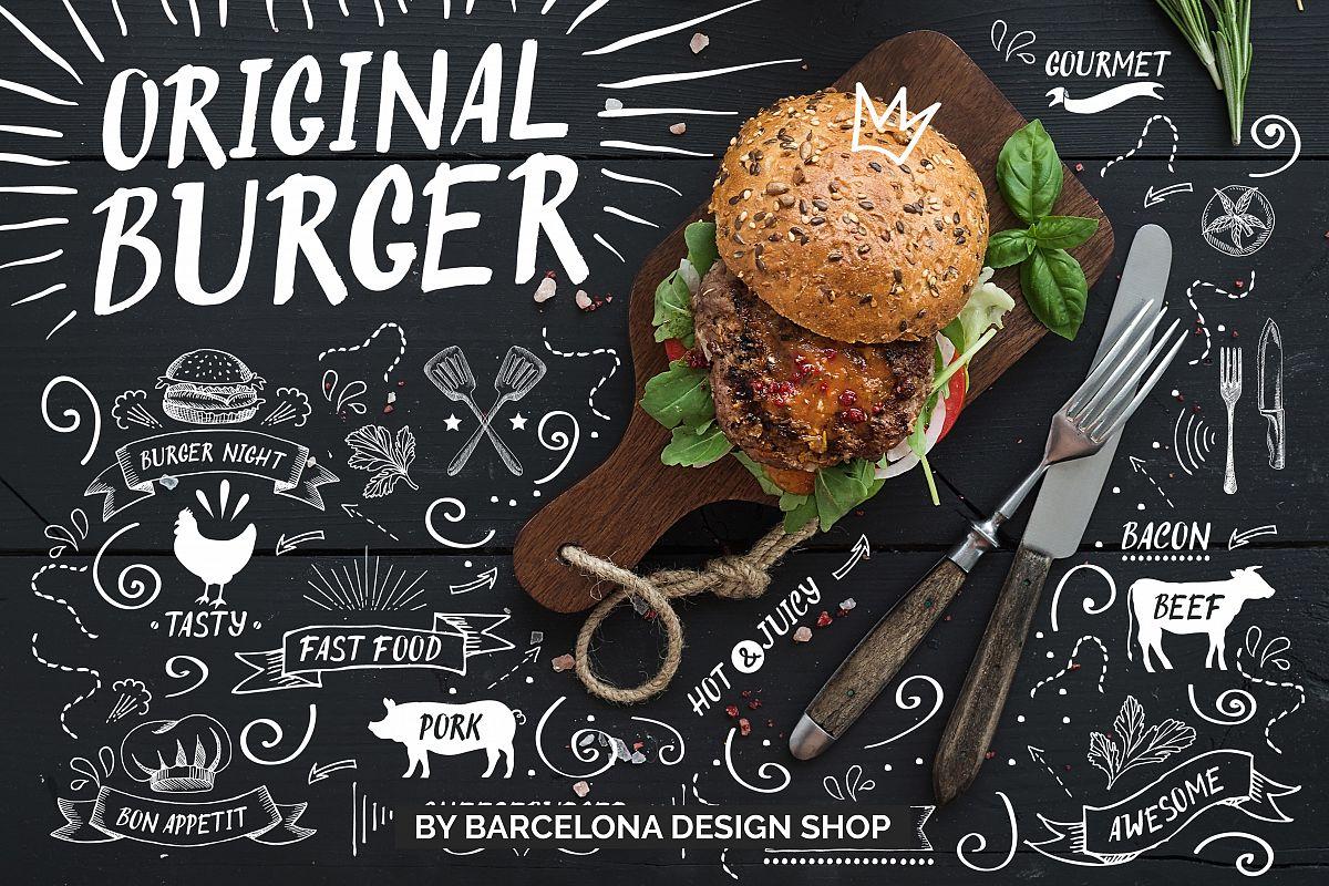 Original Burger Font example image