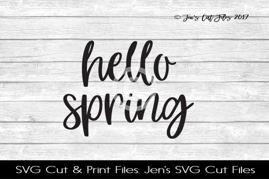 Hello Spring SVG Cut File example image