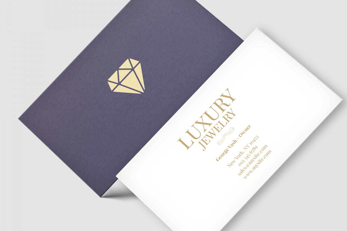 Jewelry business card by iLoveDesign | Design Bundles