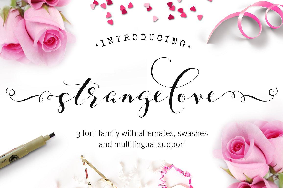 Strangelove Calligraphy Font - wedding font example image