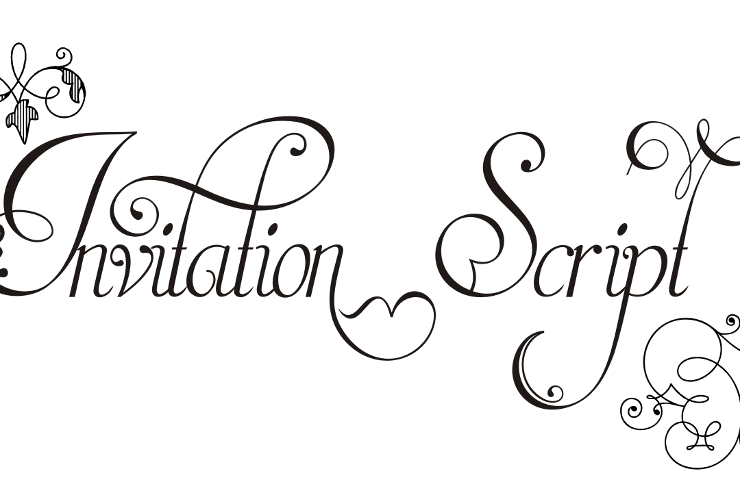 Invitation Script Pack (4 fonts) example image
