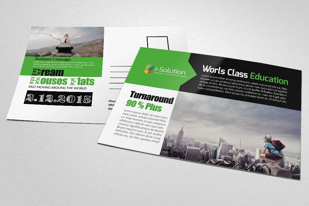 Professional Business Postcards by Desi | Design Bundles