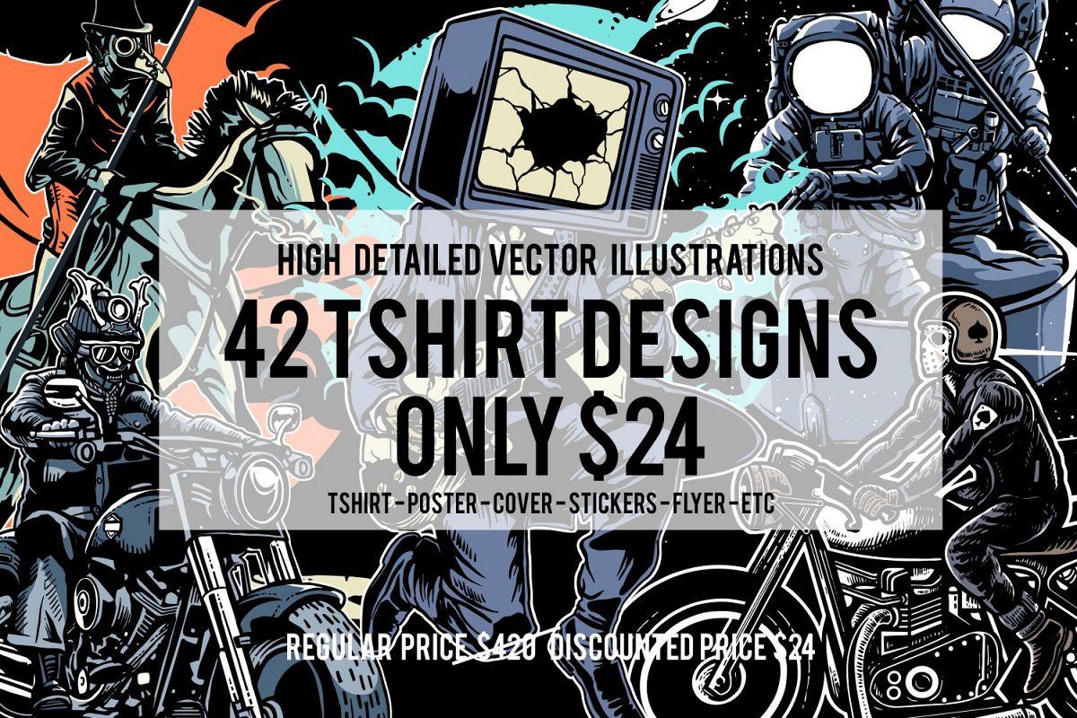 42 Tshirt Designs Bundle example image