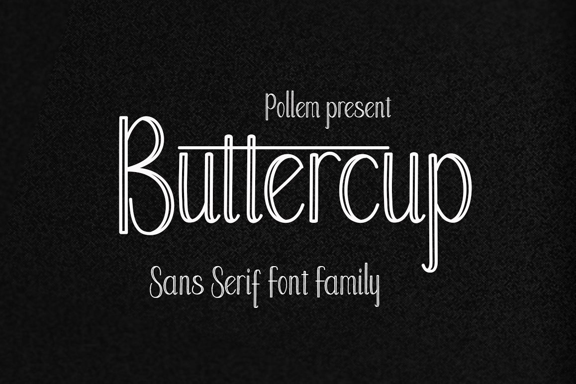 Buttercup Font Family example image
