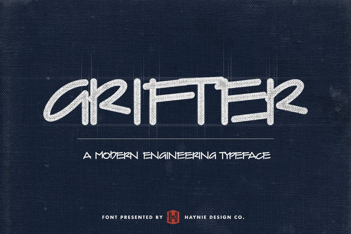 Grifter architect blueprint handwriting font bundles grifter architect blueprint handwriting font example image malvernweather