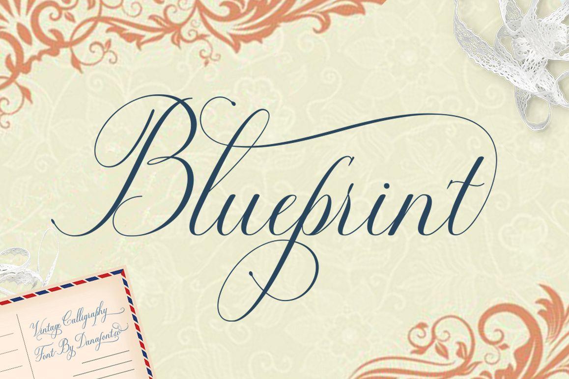 Blueprint by danafont font bundles blueprint example image malvernweather Gallery