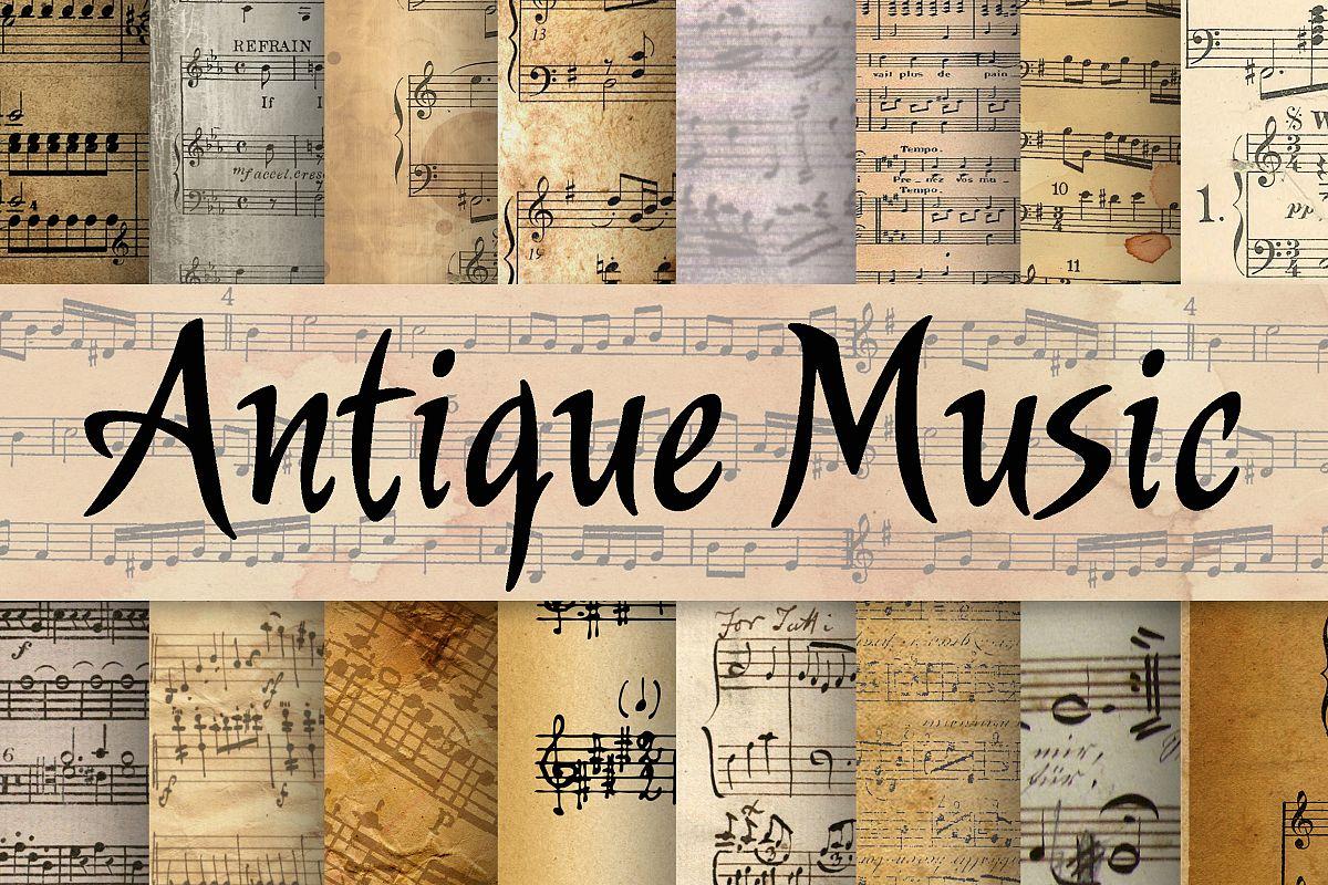 Antique Music Digital Paper example image